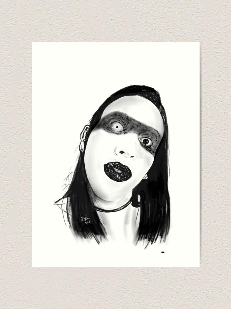 Alternate view of Marilyn Manson Art Print