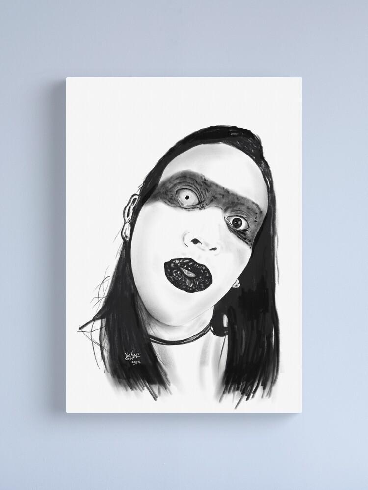 Alternate view of Marilyn Manson Canvas Print