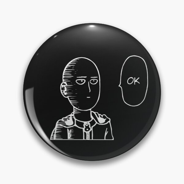 Saitama (white version) Pin