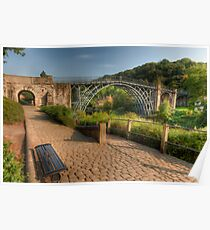 Iron Bridge Path Poster