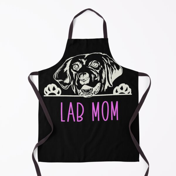 Lab Mom with Labrador Retriever Dog Apron