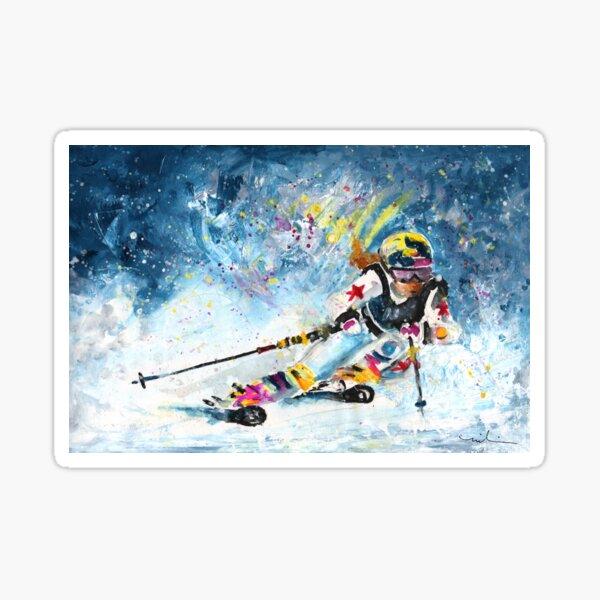 Skiing 03 Sticker
