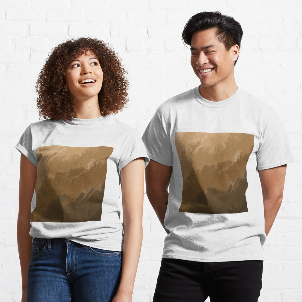 Brown / Tan / Taupe / Beige Acrylic Pour Painting Classic T-Shirt