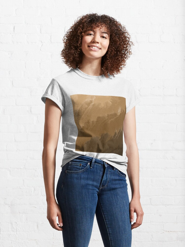 Alternate view of Brown / Tan / Taupe / Beige Acrylic Pour Painting Classic T-Shirt
