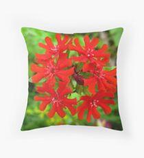 Exotic Garden Red Throw Pillow