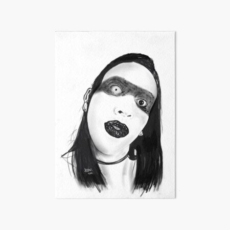 Marilyn Manson Art Board Print