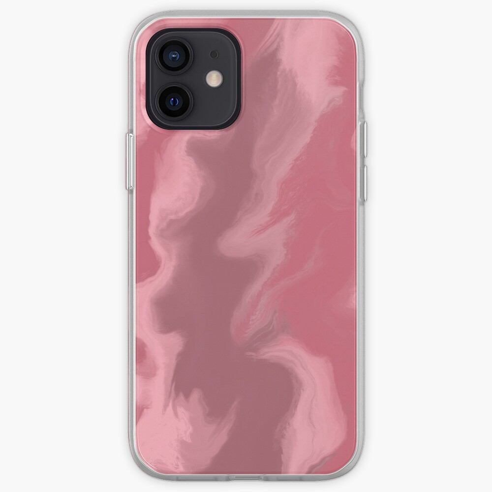 Blush Pink / Rose Pink / Light Pink Acrylic Pour Painting iPhone Case & Cover