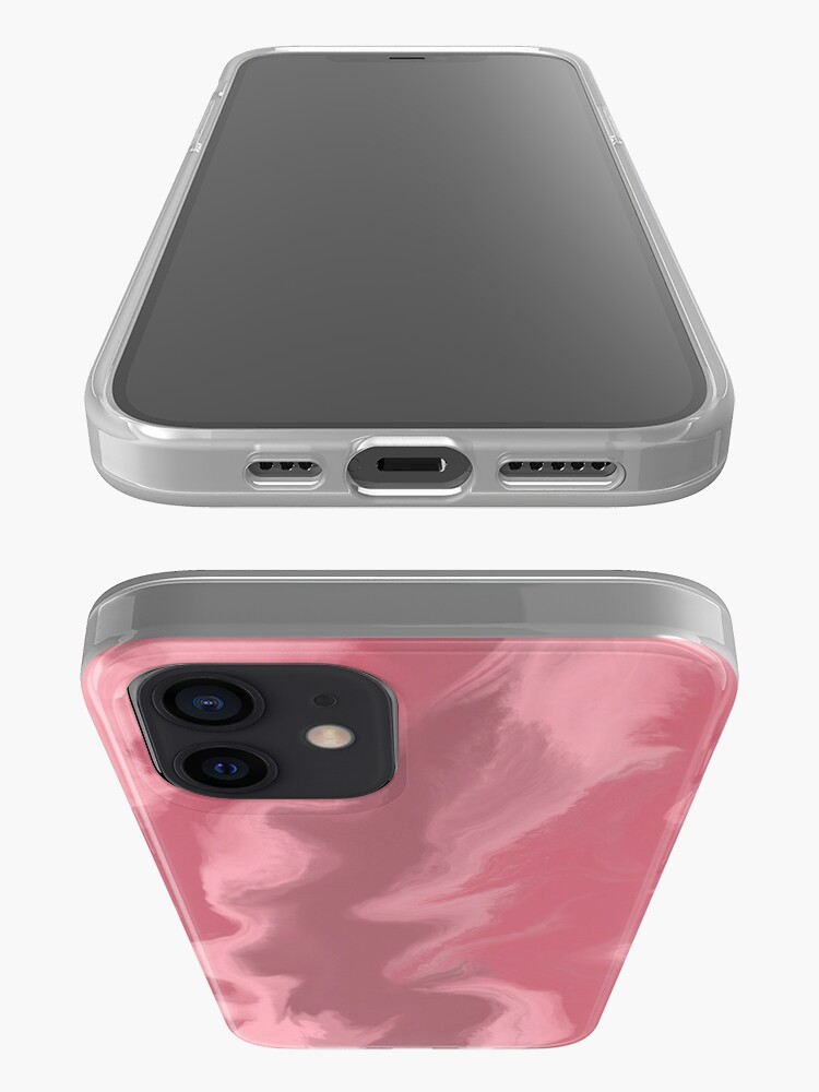 Alternate view of Blush Pink / Rose Pink / Light Pink Acrylic Pour Painting iPhone Case & Cover
