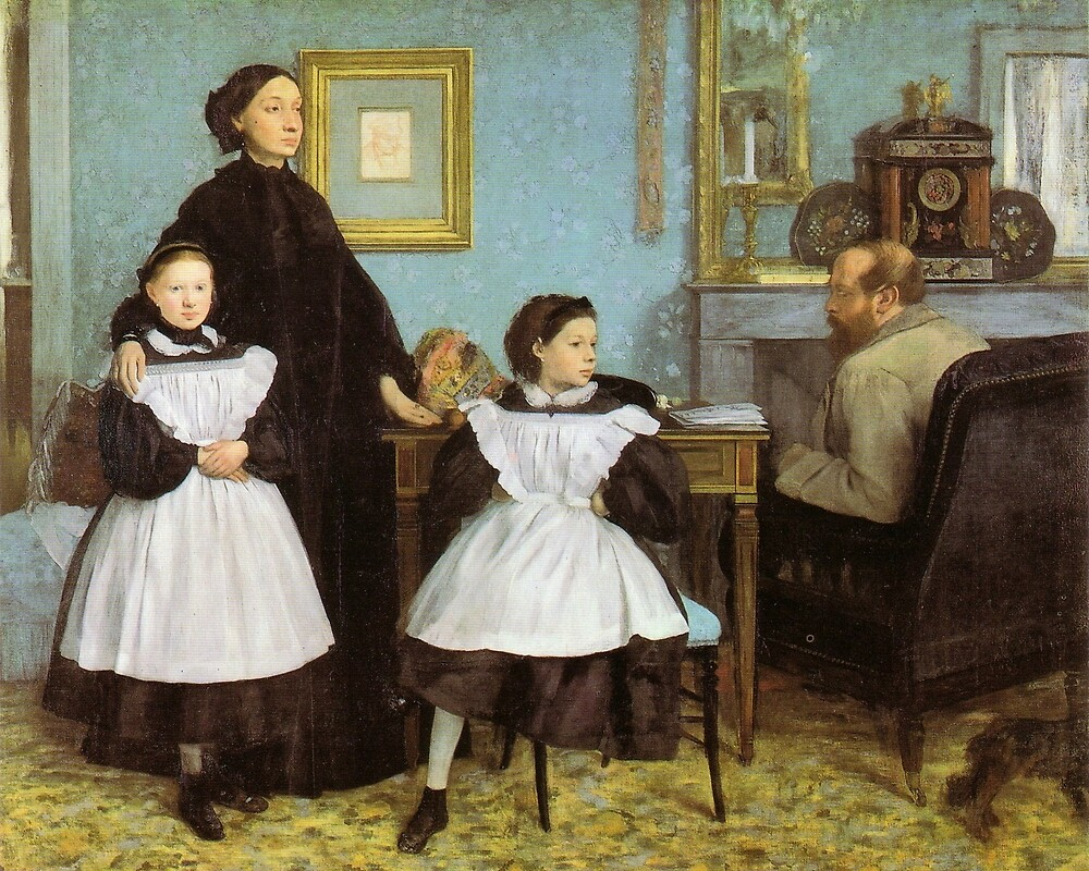 Edgar Degas French Impressionism Oil Painting Family by jnniepce