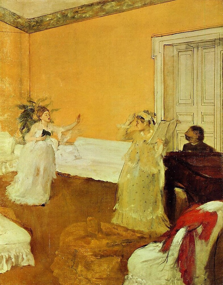 Edgar Degas French Impressionism Oil Painting Girls Singing by jnniepce