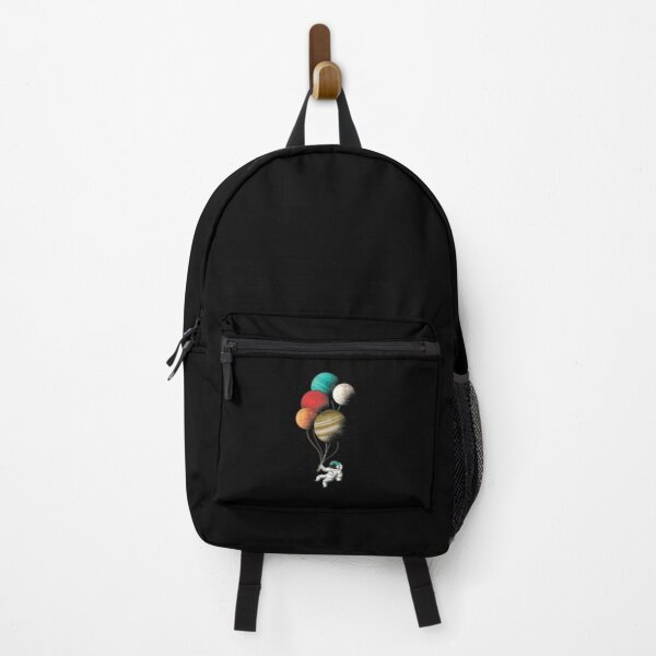 Cool Astronaut With Balloon Planets Backpack