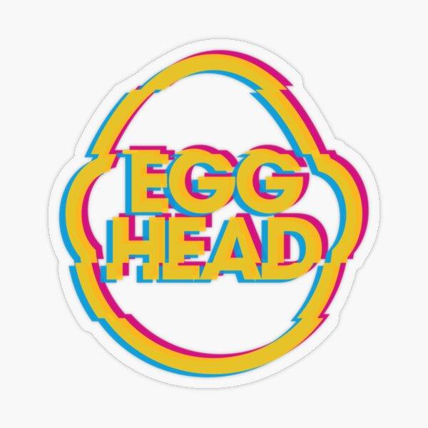 Egghead Glitch Transparent Sticker