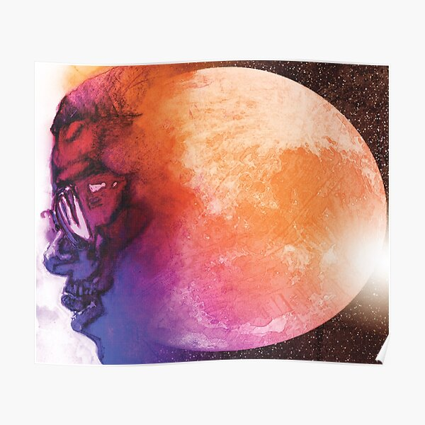 MAN ON THE MOON ALBUM COVER Poster