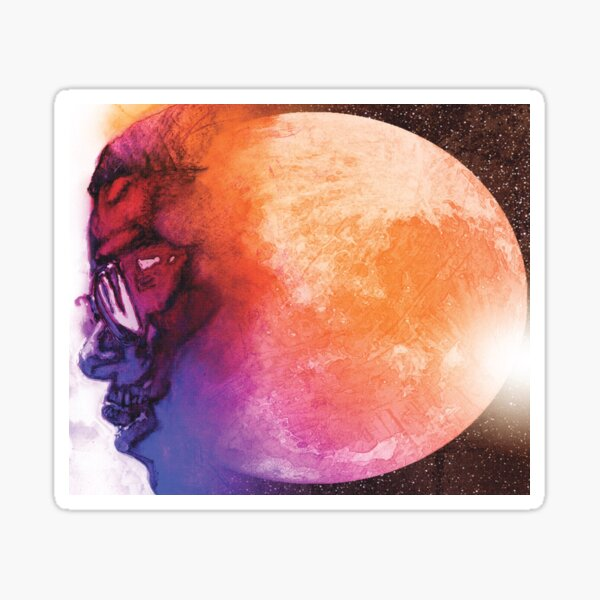 MAN ON THE MOON ALBUM COVER Sticker