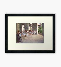Edgar Degas French Impressionism Oil Painting Ballerinas Rehearsing Framed Print