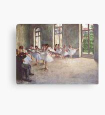 Edgar Degas French Impressionism Oil Painting Ballerinas Rehearsing Metal Print