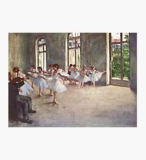 Edgar Degas French Impressionism Oil Painting Ballerinas Rehearsing Photographic Print