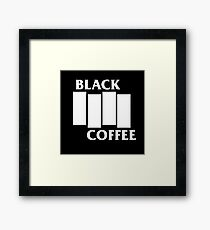 Black Flag Coffee  Framed Print
