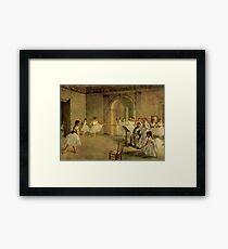 Edgar Degas French Impressionism Oil Painting Dance School Framed Print