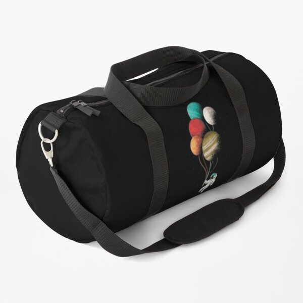 Cool Astronaut With Balloon Planets Duffle Bag
