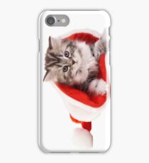 Happy Christmas with kitty! iPhone Case/Skin