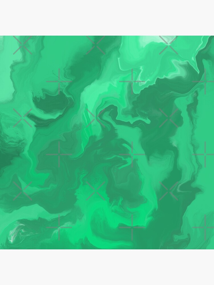 Turquoise / Bright Green / Seafoam Green / Mint Acrylic Pour Painting by abstractnudes