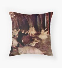 Edgar Degas French Impressionism Oil Painting Ballerinas Performing Throw Pillow