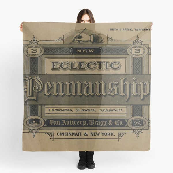 The New Eclectic Penmanship Primer, 1883 Scarf