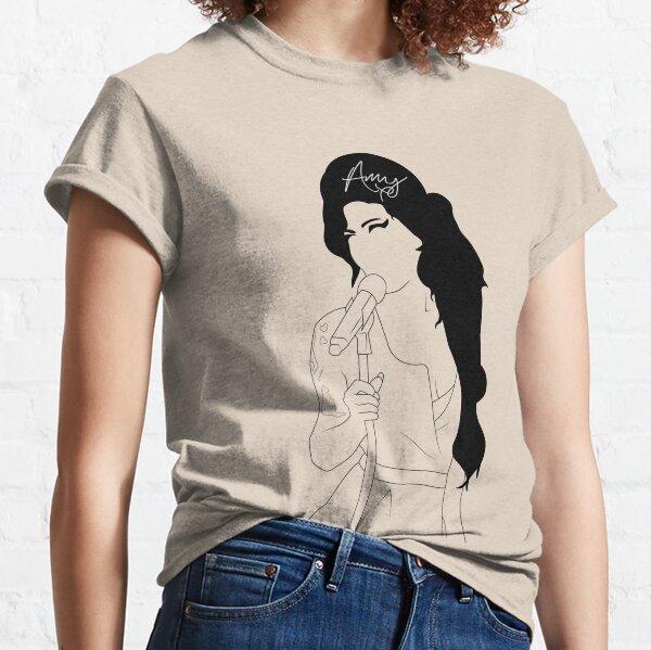 Amy Winehouse dessin au trait avec Signiture T-shirt classique
