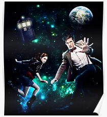 Amy and The Doctor in Space Poster