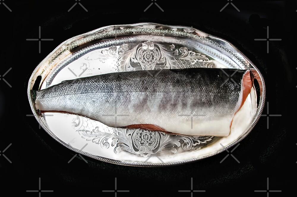 Salmon On Silver  by Heather Friedman