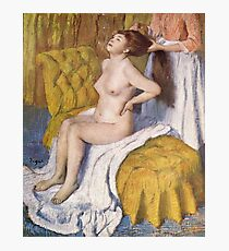 Edgar Degas French Impressionism Oil Painting Brushing Hair Photographic Print