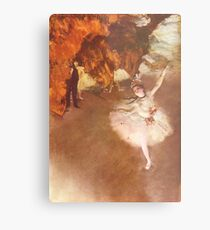 Edgar Degas French Impressionism Oil Painting Ballerinas Dancing Metal Print