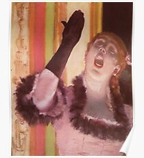 Edgar Degas French Impressionism Oil Painting Woman Singing Poster