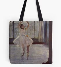 Edgar Degas French Impressionism Oil Painting Ballerina Practicing Tote Bag