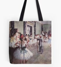 Edgar Degas French Impressionism Oil Painting Ballerinas Rehearsing Tote Bag