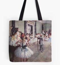 Edgar Degas French Impressionism Oil Painting Ballerinas Rehearsing Tote Bag
