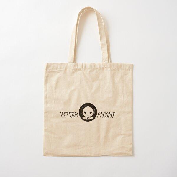 Alien Head Black Horizontal Logo Cotton Tote Bag