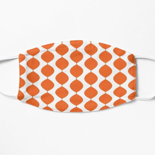 Mid Century Modern Retro 60s Waves Pattern  (Red Orange Pure) Flat Mask