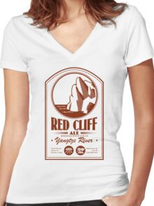 Red Cliff Ale Women's Fitted V-Neck T-Shirt