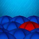 Red Umbrella by Olga Altunina