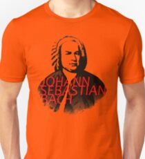 Johann Sebastian Bach vibrant portrait and text Unisex T-Shirt