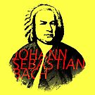 Johann Sebastian Bach vibrant portrait and text by cesarpadilla