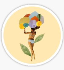 i walk out in the flowers and feel better Sticker