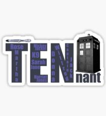 TENnant Doctor Who Sticker