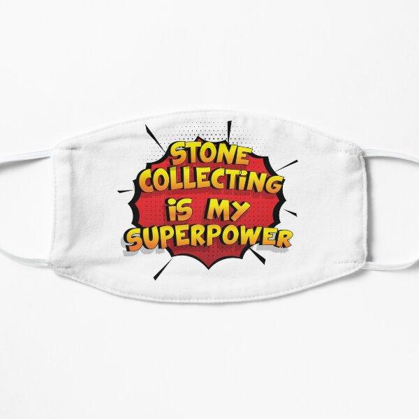 Stone Collecting ist mein Superpower Lustiges Stone Collecting Designgeschenk Flache Maske