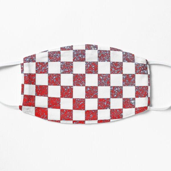Chessboard Glitter Croatia Flat Mask