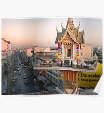 Rooftop Shrine - Thailand Poster