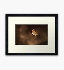 Blood moon 2014 last stage Framed Print