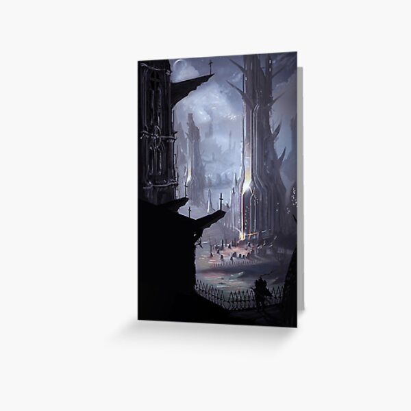 Gothic Towers Greeting Card